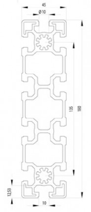 BOSCH KOMPATIBILIS PROFIL 45X180 NUT10